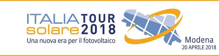 """Italia Solare Tour 2018: """"Impianti FV: tra nuovi incentivi e gestione intelligente"""""""
