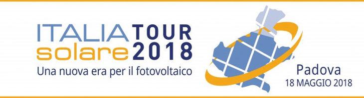 """Italia Solare Tour – 18 maggio a Padova: """"Una nuova era per il fotovoltaico"""""""