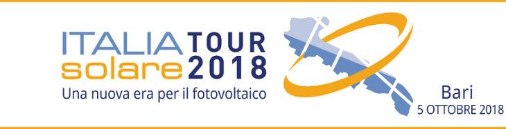 """Italia Solare Tour – 5 ottobre a Bari: """"Mantenere efficiente il parco fotovoltaico""""."""