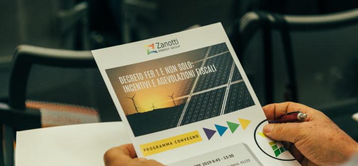 Convegno ZEG – Decreto FER1 e non solo: incentivi e agevolazioni fiscali