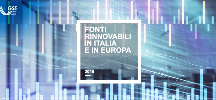 Pubblicato il report annuale del GSE sulle Fonti Rinnovabili in Italia ed Europa.
