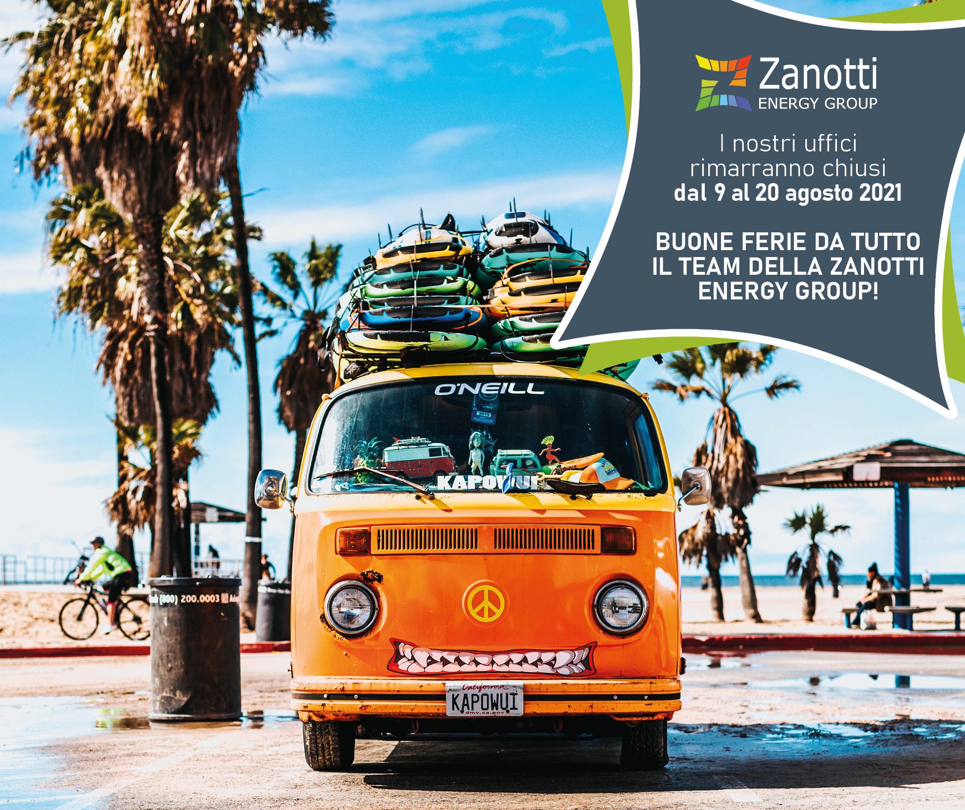 Chiusura estiva Zanotti Energy Group: BUONE FERIE!